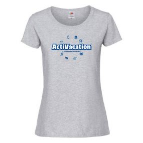ActiVacation®️ T-Shirt – Ladies' – Heather Grey