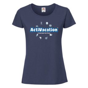 ActiVacation®️ T-Shirt – Ladies' – Navy