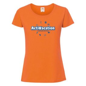 ActiVacation®️ T-Shirt – Ladies' – Orange