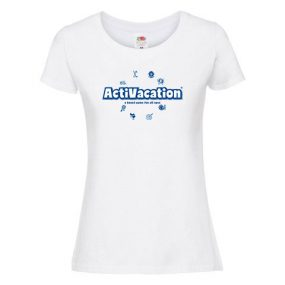 ActiVacation®️ T-Shirt – Ladies' – White
