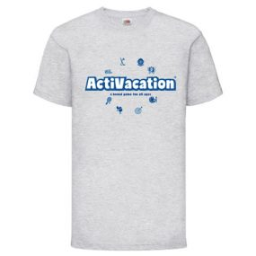ActiVacation®️ T-Shirt – Children's 3-13 – Heather Grey