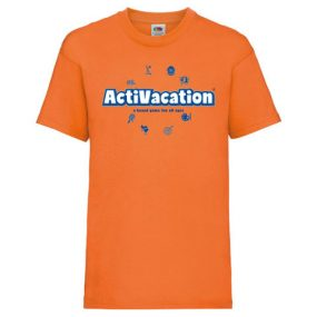 ActiVacation®️ T-Shirt – Children's 3-13 – Orange