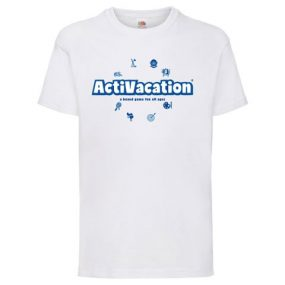 ActiVacation®️ T-Shirt – Children's 3-13 – White