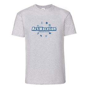 ActiVacation®️ T-Shirt – Men's – Heather Grey