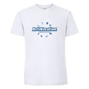 ActiVacation®️ T-Shirt – Men's – White